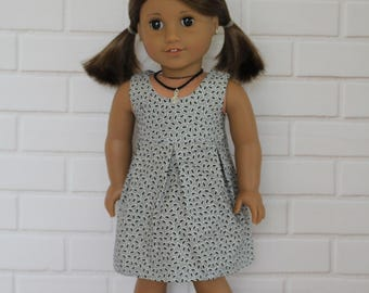 Gray Grey Sleeveless Pleated Summer Dress Doll Clothes to fit 18 inch dolls to 20 inch dolls such as American Girl & Australian Girl dolls