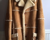 Men's Clothing / Vintage Shearling Jacket / Men's Sheepskin Rancher's Jacket / Marlboro Man Rancher's Shearling Jacket / Men's Size 42