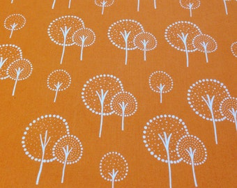 Lotta Jansdotter Glimma Kulla Cotton Orange - 1 yard