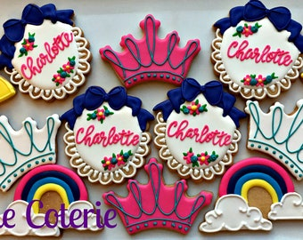Fairy Tale Princess Magic Wand Decorated Cookies Birthday Party Favors One Dozen