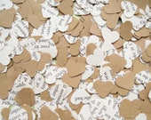 Beauty and The Beast Heart Kraft Book Confetti Mix - Wedding Birthday Party Table Decoration - Paper Hearts