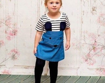 Amie Mouse Dress Includes Blue Knee Socks and Matching Hair Bow - Sizes 2, 3, and 4 - Free Shipping