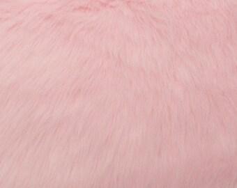 Fun Monkey Fur Baby Pink 60 Inches Fabric by the Yard, 1 yard