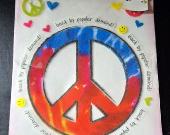"""Peace Symbol  Image Transfer It's So Me Iron On Large No Sew """"Back By Popular Demand"""" Hippy, Gypsy Style Groovy, Peace Sign, 70's"""