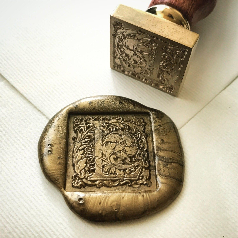 Square wax seal stamp letter l heypenman by blackmarketintl for Letter seal stamp