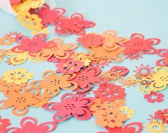 Tropical Flower Table Confetti - Luau Party - Hawaiian party decorations - Tropical party decoration - Flower confetti - Party Table Decor