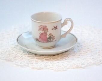 Mini Tea Cup and Saucer, Tiny Talk Tea Cup and Saucer