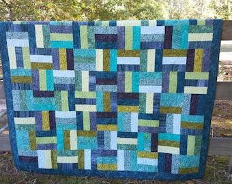 Ocean batik quilt