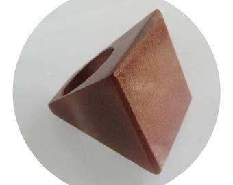 Square Geometric Parlour Resin Statement Copper Ring