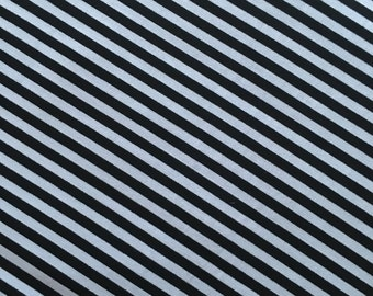 Tiny Black Stripe Fabric