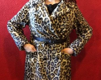 1950s Leopard Print Coat