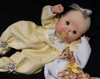 Custom one of a kind made to order hand sculpted  OOAK polymer clay baby art doll by Jenna at Rasbubby Hill Nursery