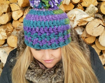 Womens Crocheted  Hat/Ready to  ship