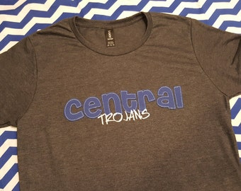 Central Trojans School Spirit Shirt - lowercase outlined letters