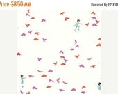 40% OFF SALE Sarah Jane Fabric - Wee Wander 1/2 Metre With the Birds in Pink (Michael Miller) ships from Australia