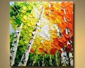 Original Abstract Painting Modern Thick Textured Painting Impasto Landscape Textured Modern Palette Knife Painting, on Canvas by Chen 0419