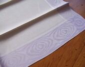 Pair of Deco Lavender Linen Hand Towels