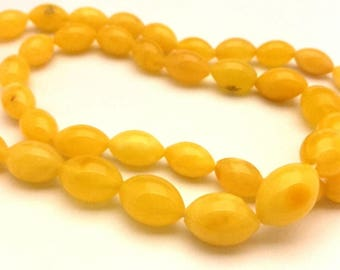 Amber Baltic Necklace Genuine 12.17 Gr Egg Yolk Yellow Color Oval (SR017)