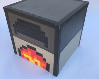 Furnace Tabletop Decoration in Minecraft Style