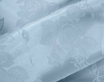 Brocade Jacquard Satin Light Blue 60 Inch Fabric by the Yard - 1 yard