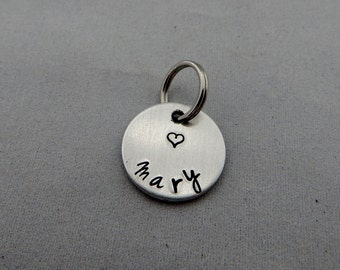 Name Charm Add On - Name Charm for Key Chain - Keychain Name Charm