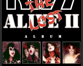 "KISS ALIVE II ""The Lost Album"" Stand-Up Display - Rock Band Collectibles Collection Collector Music Memorabilia Gift Retro Poster Pintrest"