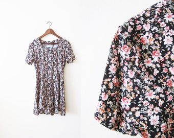 90s Romper / 90s Dress / Floral Dress / 90s Rayon Romper / Rampage / Soft Grunge Clothing / Womens Romper / Womens Playsuit / Festival