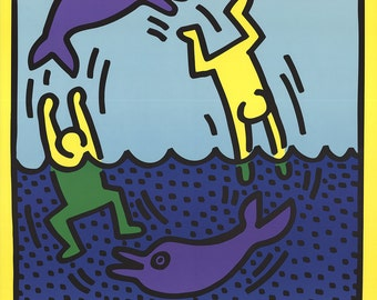 Keith Haring-Untitled (Delphine,1983)-1989 Poster