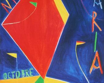 Nicola de Maria-Galerie Lelong-1988 Poster