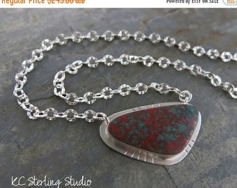 20% OFF Holiday Sale - Natural sonora sunrise pendant necklace with sterling silver - metalsmith silversmith