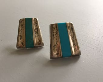 Vintage Mexican Silver Turquoise earrings