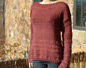 Ombre Sweater, Knitted Sweater, Knitted Pullover, Women Pullover, Loose Stitch Pullover, Bohemian, Oversized sweater