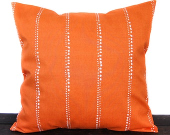 Pillow, Throw Pillow, Pillow Cover, Cushion, Decorative Pillow, orange and white, Carlo Monarch
