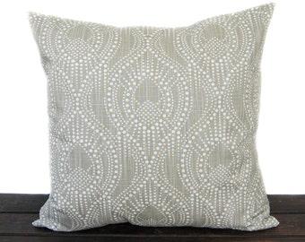 Pillow, Throw Pillow, Pillow Cover, Cushion, Decorative Pillow, Khaki Tan Beige White, Alyssa Regal Slub Canvas