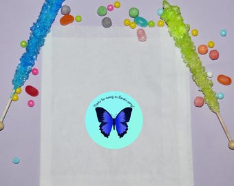 Butterfly Birthday Favor Bags, Personalized Treat Bags, Butterfly Birthday Party Favors, Butterfly Party Bags, Treat Favor Bags