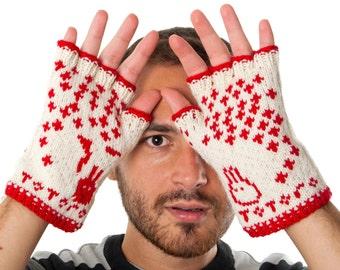 Totoro Fingerless Gloves - hand-knit from pure merino wool. Totoro Gloves Arm Warmers Merino Fingerless Gloves Totoro Texting