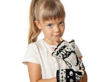 Totoro Fingerless Gloves for Kids Soft Arm Warmers Merino Gloves For Kids