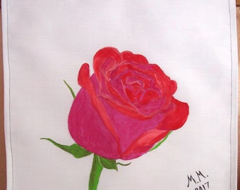 Rose Wall Decor red rose wall art   etsy