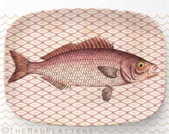Fish III melamine platter