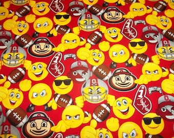 Emojis anti pill fleece fabric by the yard david textiles for Emoji material by the yard