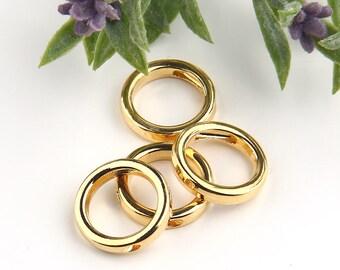 Circle, Geometrical Mini Gold  Pendants, Minimal Jewelry, Geometric Jewelry, 15,50mm, 4 pieces // GB-194