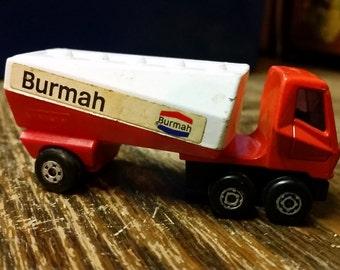 Matchbox no.63 freeway gas tanker Burmah 1973