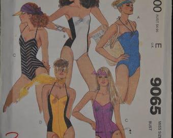 1980's Brooke Shields Swimsuit Pattern - UNCUT - Misses' Size 10 - McCall's 9065