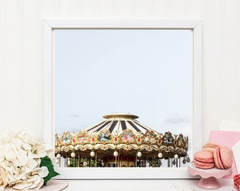 Carousel photography print - Paris nursery decor