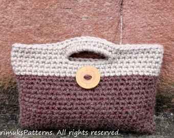 Crochet PATTERN - Rico 2-colour crochet button purse - Listing107