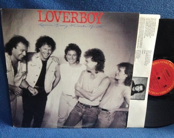 "Vintage, Loverboy  - ""Lovin Every Minute Of It"", Vinyl LP, Record Album, Original 1985 First Press, This Could Be The Night, Hard Rock, Pop"