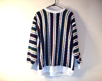 Vintage 1990s Rainbow Stripe Sweater