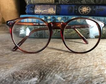 French Faux Tortoiseshell Eye Glasses, Prescription Eyeglasses, Retro Round Rims