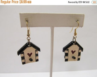 On Sale Hand Crafted Dangling Bird House Earrings Item K # 1395