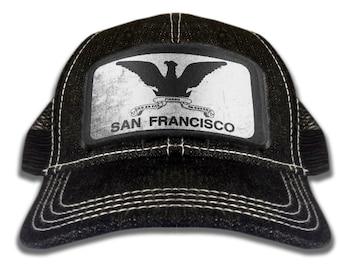 San Francisco Cap - Washed Denim Mesh Hat with Adjustable Strap